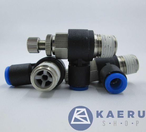 Flow control valve 1/4 x Dia 6