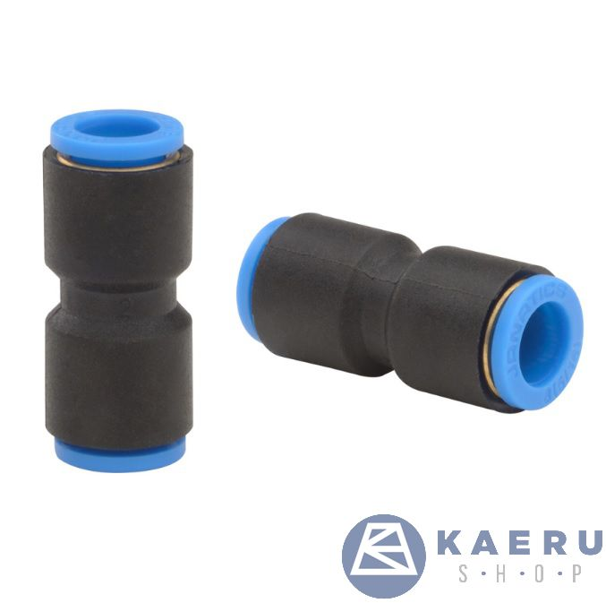 WP2100808, One Touch Fittings, Straight union Dia8, Standard, Straight.