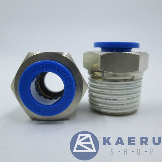 WP2111053,Janatics,One Touch Fittings,Male connector Dia10x1/2,Standard,Straight,Male Connector,BSP,1/2,10