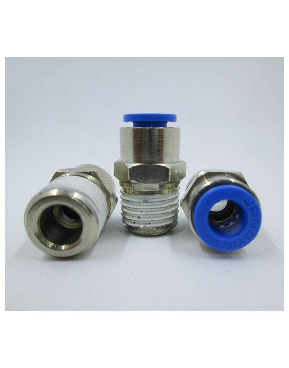 Male connector Dia6x 1/4
