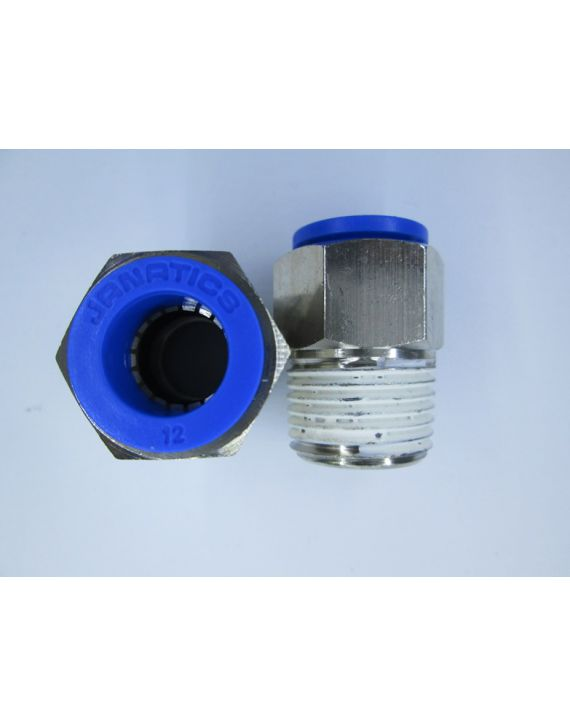 One Touch Fittings Male Connector 12mm x 1/2